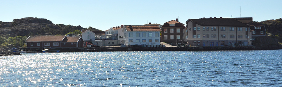 Photo of Kristineberg Marine Research Station, from the sea
