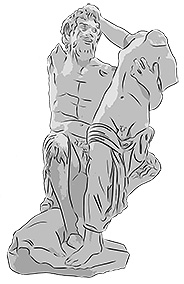 Hermaphroditus and Pan, privately owned sculpture. Illustration: Jonathan Westin.
