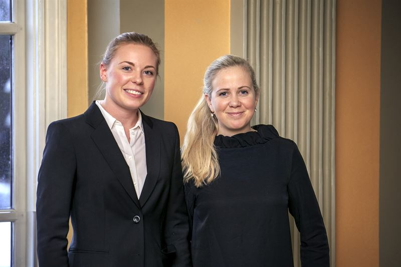 Maria Lundin and Ebba Bergbom Wallin.