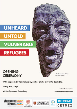 exhibition poster with artwork by Yacob Ibrahim, titled After Seven Years of War