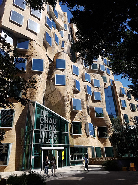 The Dr. Chau Chak Wing Buildning at UTS Business School, Sydney, Australia.