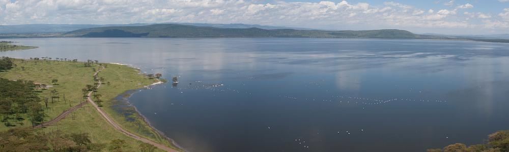 Lake Naivasha is the second largest freshwater lake in Kenya.
