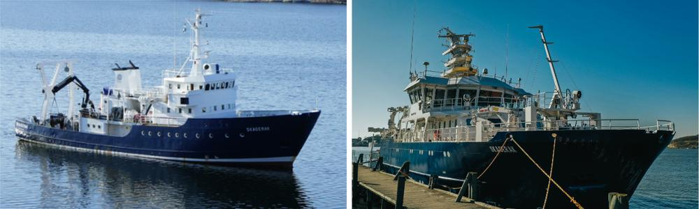 Existing and new  R/V Skagerak