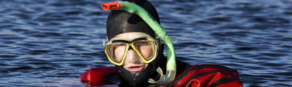 To collect organisms through snorkeling is common