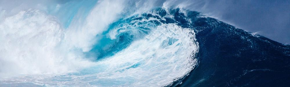Big blue and turquiose wave.