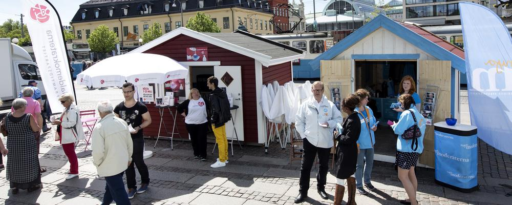 Election campaign in Gothenburg in 2014.