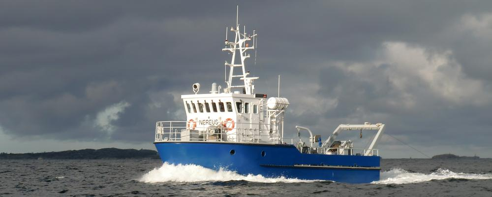 Research vessel Nereus cruising in the Koster fiord