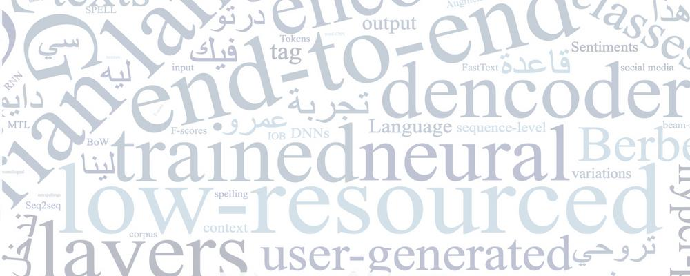 Cover of thesis, Natural Language Processing for Low-resourcedCode-switched Colloquial Languages. The Case of Algerian Language by Wafia Adouane