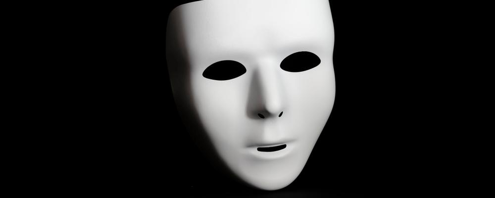 White mask with no expression