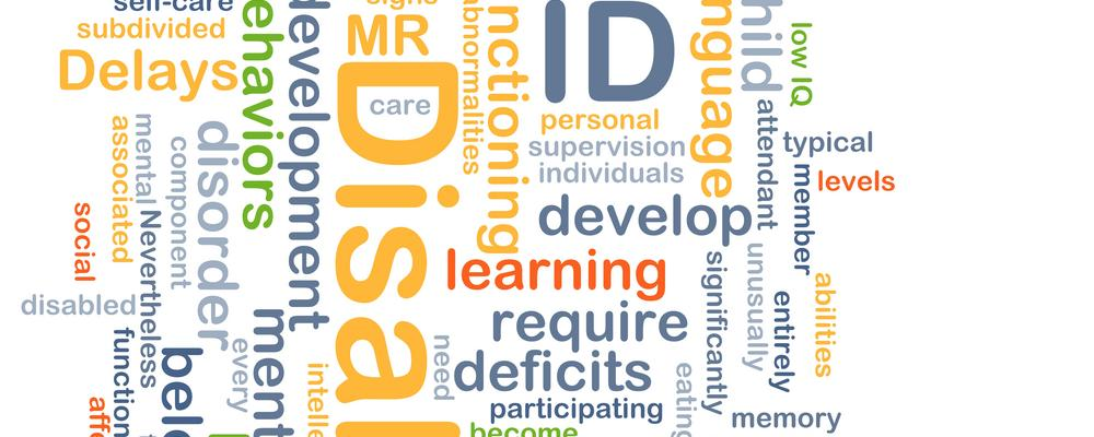 Background concept wordcloud illustration of intellectual disability ID