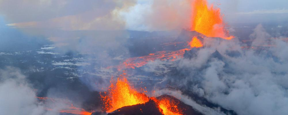 The volcano in Holuhraun