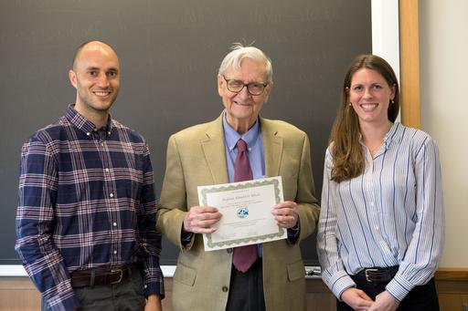E. O. Wilson recieving the very first honorary membership in the GGBC in 2018
