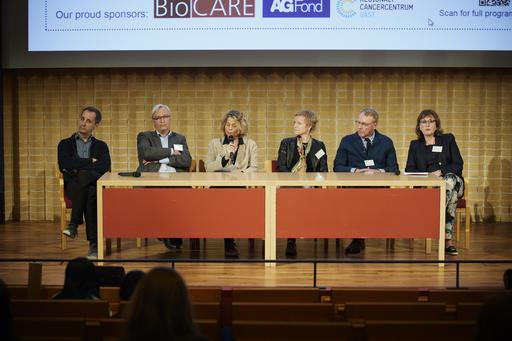 The six panel members of the Gothenburg Cancer Meeting 2019 panel debate.